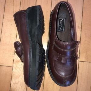SIMPLE dk brown tassel shoe/New ? 6/EU37